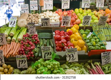 Fruits and vegetables at the Market