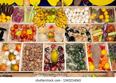 fruits and vegetables in municipal market