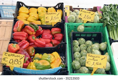 fruits and vegetables at the open market