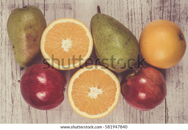Fruits and vegetables as part of a healthy diet - concept of healthy eating.
