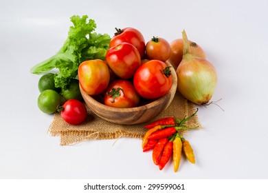 fruits and vegetables, tomato, lemon, chilli