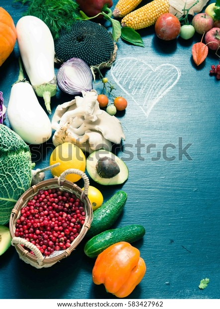 Fruits and vegetables/toned photo