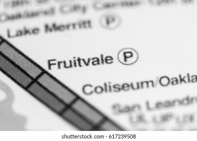 Fruitvale Station. San Francisco Metro map.
