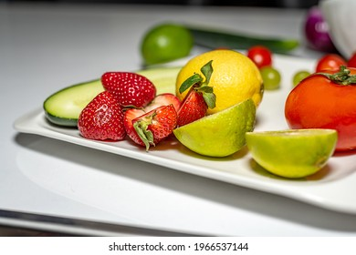 Fruity bowl, the sweetest fruit is strawberries