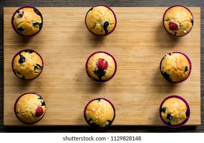 Fruity muffins on display