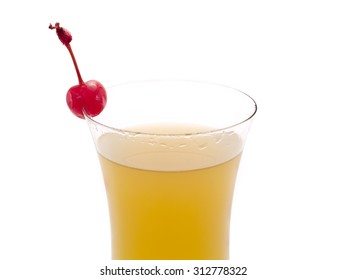Fruity Rum Punch cocktail isolated on white background