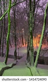 Frunze recreation park in Vitebsk. Belarus