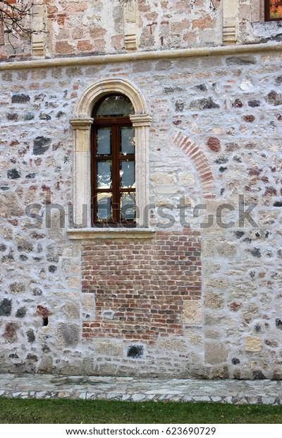 Fruska Gora, Serbia - February 26, 2017: Novo Hopovo Monastery in Fruska Gora National Park. The first reliable mention of the monastery dates back to 1641.