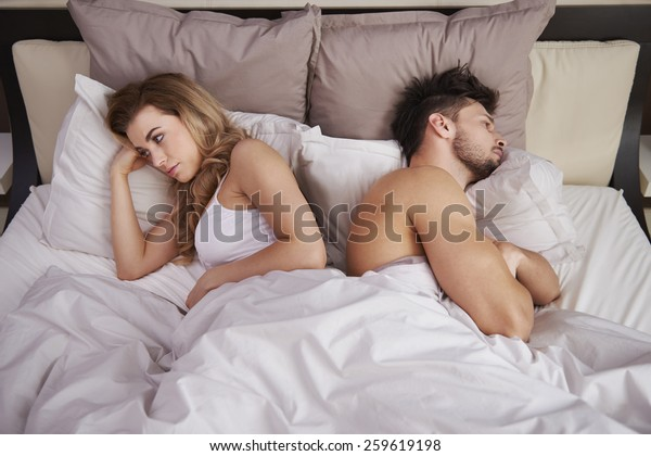 Frustrated couple with serious problems