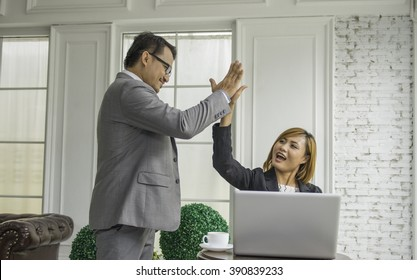 Frustrated working horrible boss with employee assistant business suit job