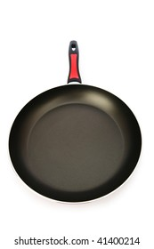 Frying pan isolated on the white background