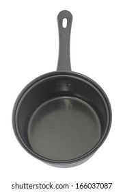 Frying pan over white background