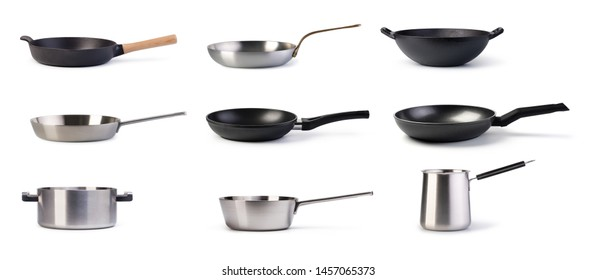 Frying Pan Set isolated on a white background