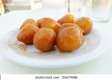 frying sweet balls