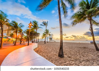 Ft. Lauderdale Beach, Florida, USA at Las Olas Blvd.
