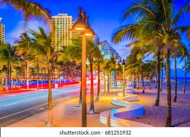 Ft. Lauderdale, Florida, USA on the beach strip.