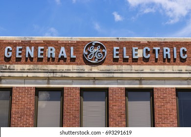 Ft. Wayne - Circa August 2017: General Electric Factory. GE divisions include aviation, energy, healthcare and lighting XVI