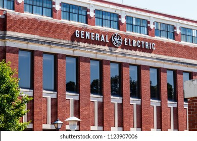 Ft. Wayne - Circa June 2018: Former General Electric Lighting Factory. Financial troubles have forced GE to seek buyers for several divisions, including lighting and healthcare IV