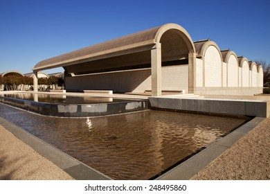 Ft Worth, Texas, USA - Jan. 6, 2015: The Kimbell Art Museum is located in the cultural district and host European Old Masters and traveling art exhibitions in Ft Worth, Texas, USA - Jan. 6, 2015
