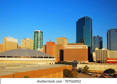 Ft Worth, TX, USA November 5, 2011 The dome of the Fort Worth Convention Center anchors the city's skyline