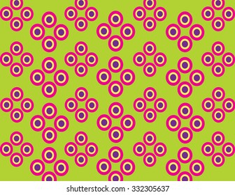 Fuchsia pattern of concentric circles.