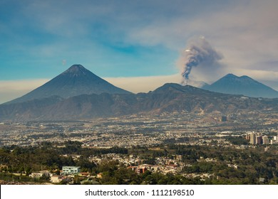 Fuego Volcano eruption in Guatemala.