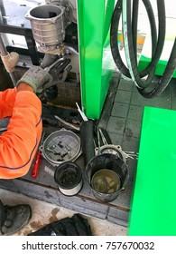 Fuel dispenser maintenance and service.
