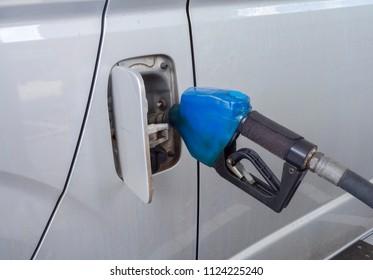 Fuel filler in Gas station.