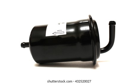 The fuel filter on a white background