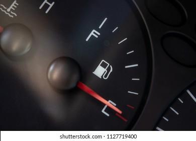 fuel level indicator close-up