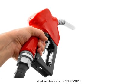 Fuel nozzle against isolated background