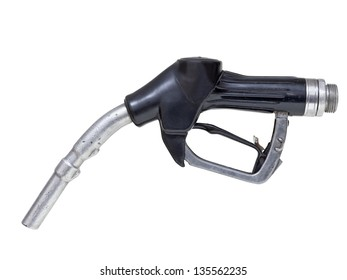 Fuel nozzle for gasoline and diesel isolated on white