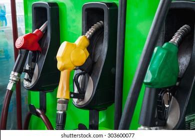 fuel nozzle a gasoline station
