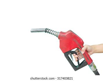 Fuel nozzle on white background