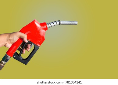 Fuel nozzle,Fuel nozzle red on smooth background color