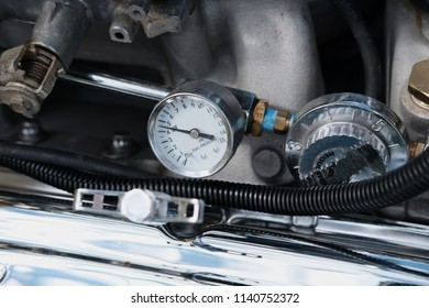 Fuel Pressure Guage on a High Performance Engine