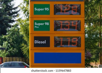 Fuel Price Scoreboard for Diesel, Super 95 Gasoline and Super 98 Gasoline in Poland