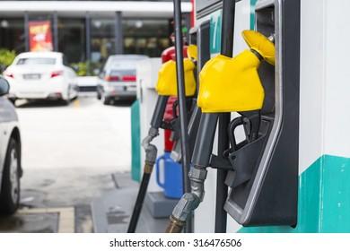 Fuel pump ,gas station self service station.