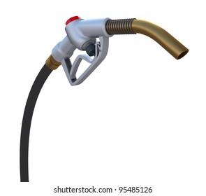 Fuel pump nozzle. Front view. 3d rendering
