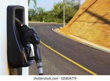 Fuel pump on  new road for concept idea.