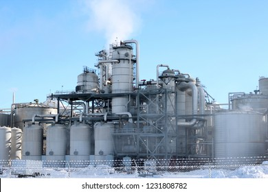 Fuel Refinery in Winter