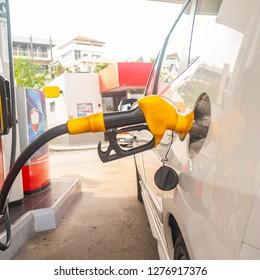 Fuel station self service transportation.