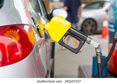Fuel station service fill  energy into your car at gas station