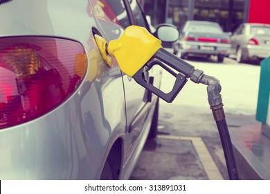 Fuel Station ,transportation self service energy concept.