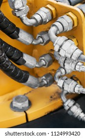 fuel system of the tubes and pipes of the tractor or bulldozer or other construction machinery