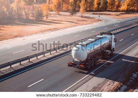 fuel tanker truck on