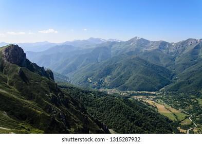 Fuente de, Cantabria, Spain, July 15, 2014: Peaks of Europe