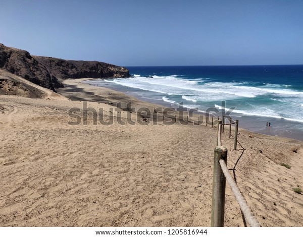 Fuerteventura beach sand