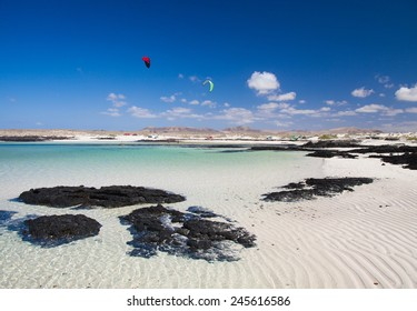Fuerteventura, rippled sand around Faro de Toston