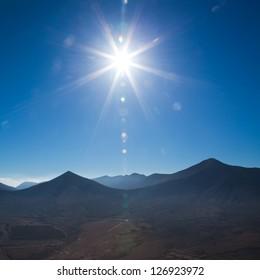 Fuerteventura, view east  from Tindaya mountain